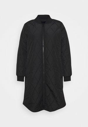 CARCARROT NEW LONG QUILTED JACKET - Klasický kabát - black