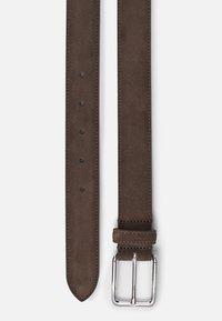 J.LINDEBERG - BOBBY SUEDE BELT - Belt - dark brown - 1