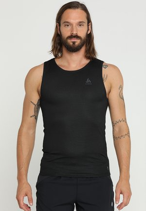 CREW NECK SINGLET ACTIVE LIGHT - Undershirt - schwarz
