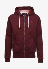 Superdry - LABEL CLASSIC ZIPHOOD - veste en sweat zippée - cranberry grit - 3
