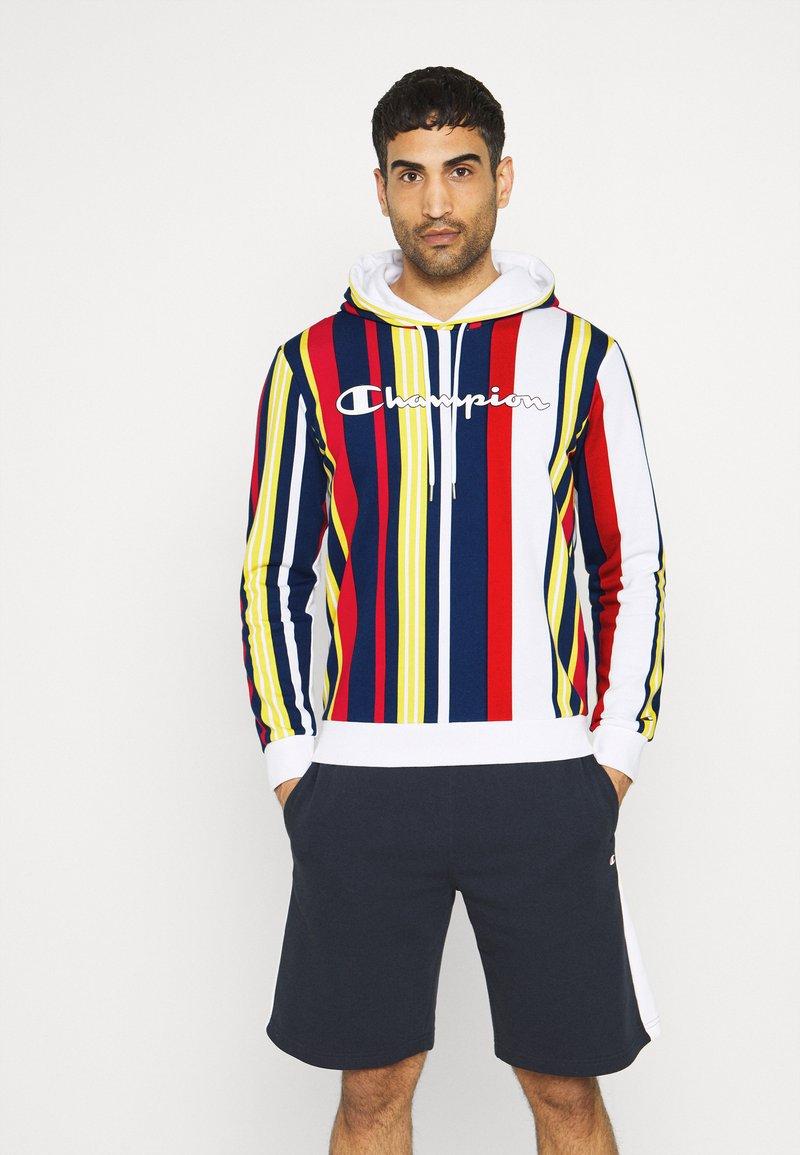 Champion - HOODED  - Sweatshirt - white/allover
