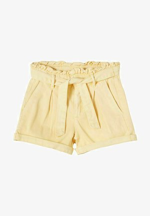 Denim shorts - light yellow