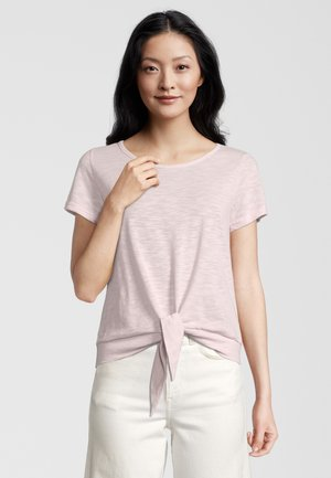 SWIFT WITH TIE WAIST - Print T-shirt - rose