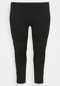 Evans - PONTE STITCH - Leggings - Trousers - black - 4