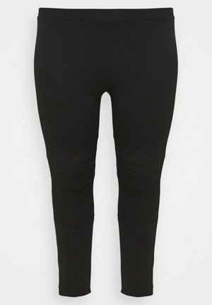 PONTE STITCH - Leggings - Trousers - black