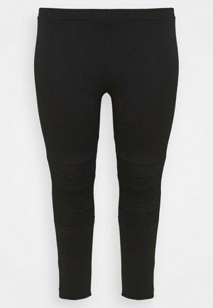 PONTE STITCH - Leggingsit - black