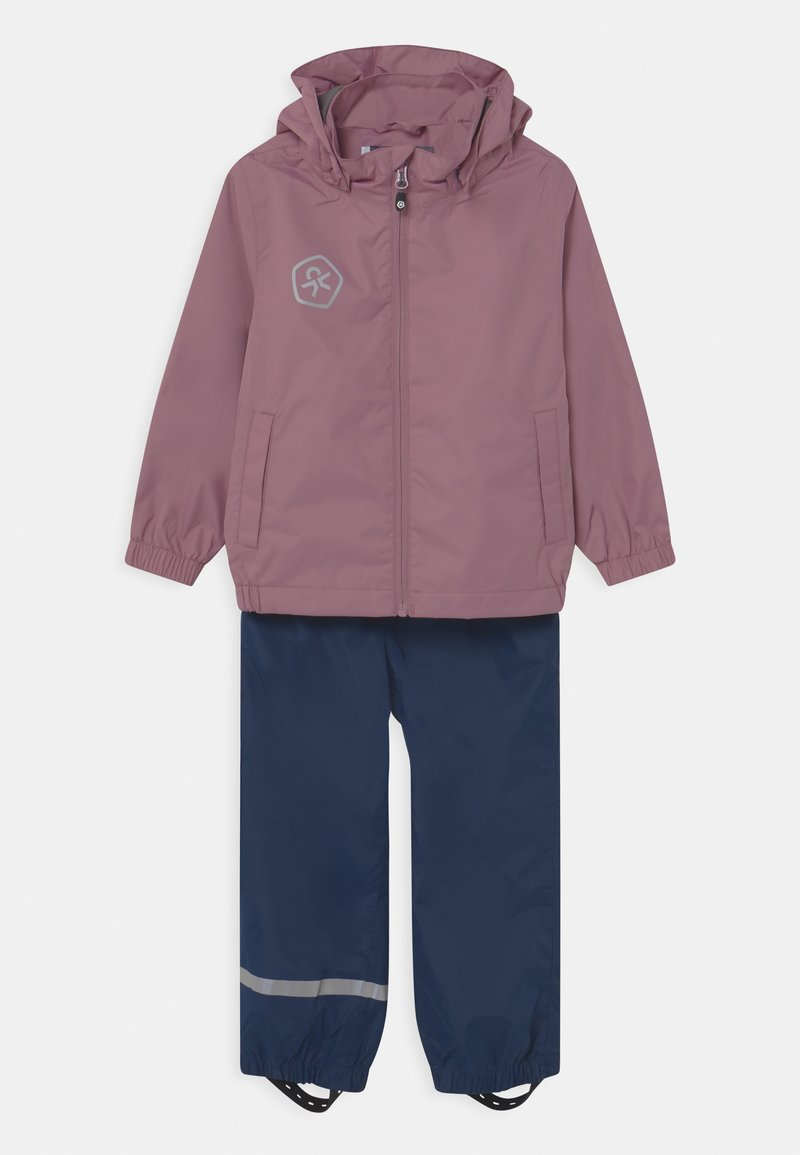 Color Kids - RAIN SET UNISEX - Waterproof jacket - dusky orchid