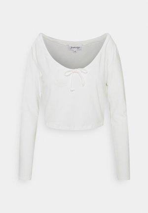 LONGSLEEVE TIE  - Long sleeved top - white
