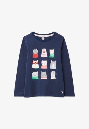 Sweatshirt - blau neun katzen