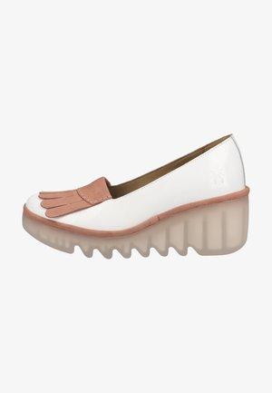 Platform heels - offwhite pink