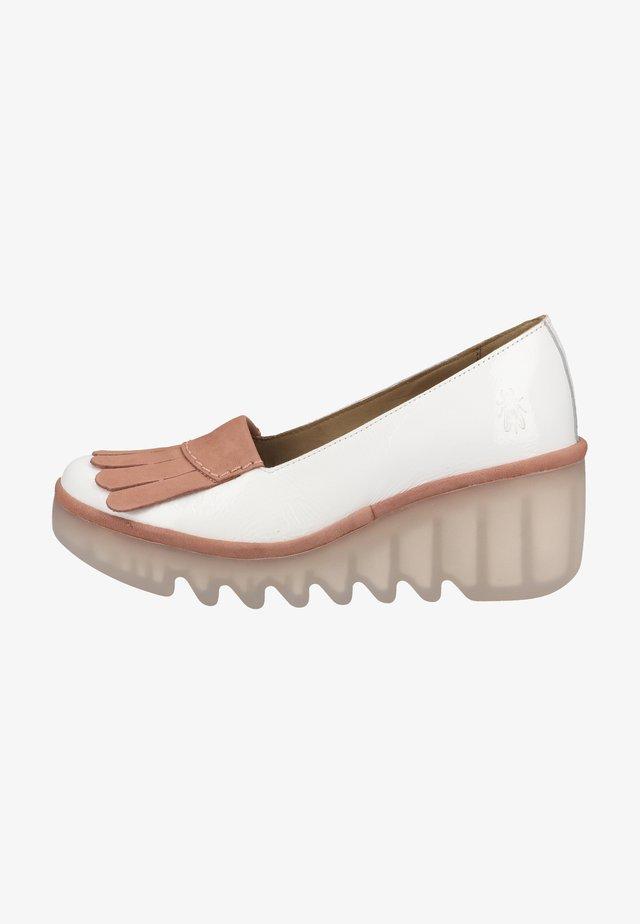 Escarpins à plateforme - offwhite pink
