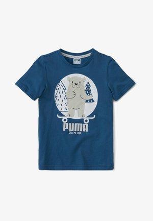 T-shirt print - digi-blue