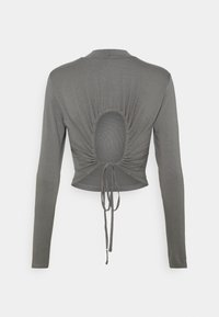 NA-KD - EXCLUSIVE STRAPPDY - Long sleeved top - dark grey - 1
