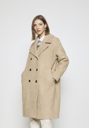 OVERSIZED COAT - Mantel - sand melange