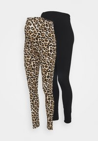 MAMALICIOUS - MLSANNIE 2 PACK - Leggings - Trousers - black - 5