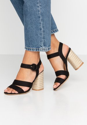 SANTAL STRAPPY - High heeled sandals - black
