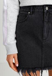 Abrand Jeans - A SKIRT - Jeansrok - graphite - 3