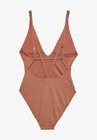 Seafolly - STARDUST DEEP V NECK MAILLOT - Swimsuit - bronze - 1