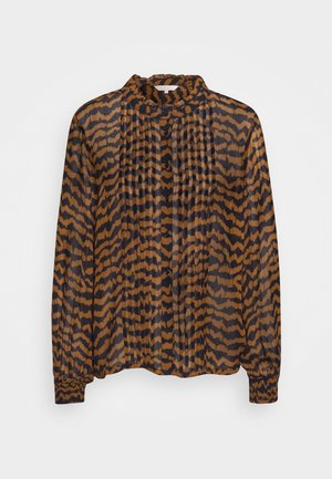 ESIN - Button-down blouse - ikat/choclat glaze