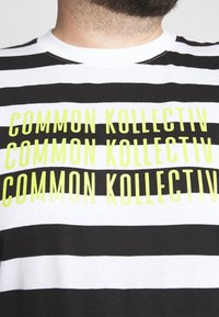 Common Kollectiv - PLUS WILSON STRIPE - T-shirt z nadrukiem - white - 5