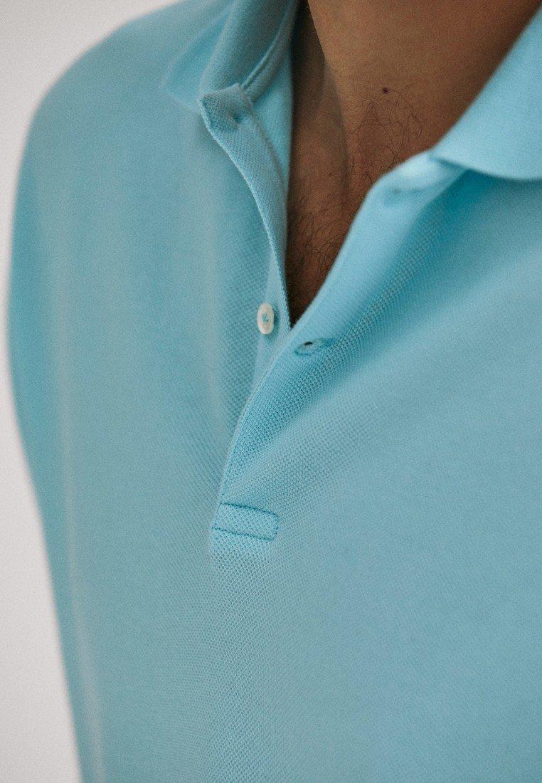 Massimo Dutti Polo shirt - turquoise ARa8h