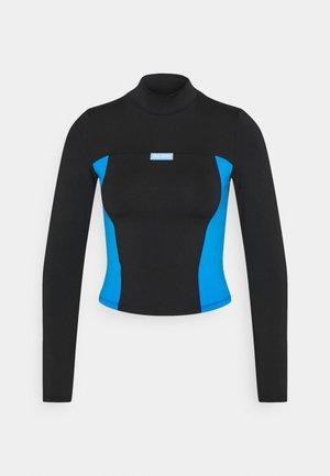 MILA TURTLENECK - Long sleeved top - black/blue