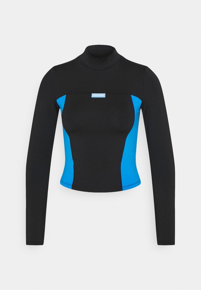 MILA TURTLENECK - Longsleeve - black/blue