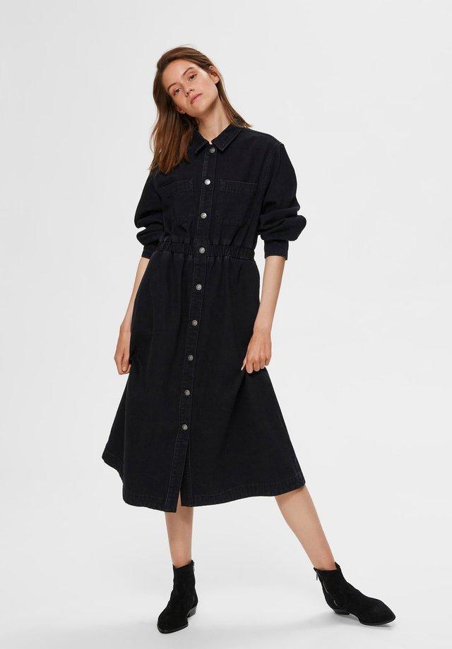 Vestido vaquero - black denim