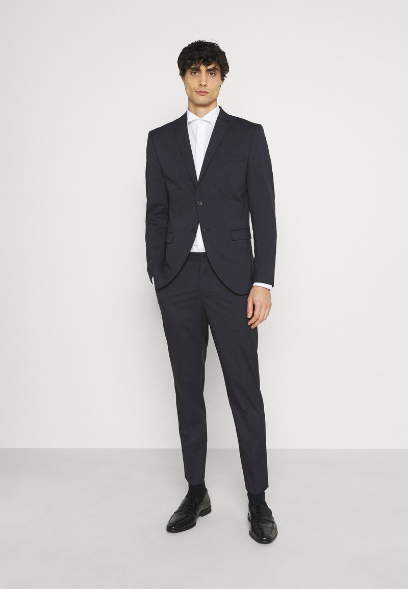 Selected Homme - SLHSLIM MYLOLOGAN CROP SUIT - Suit - navy blazer