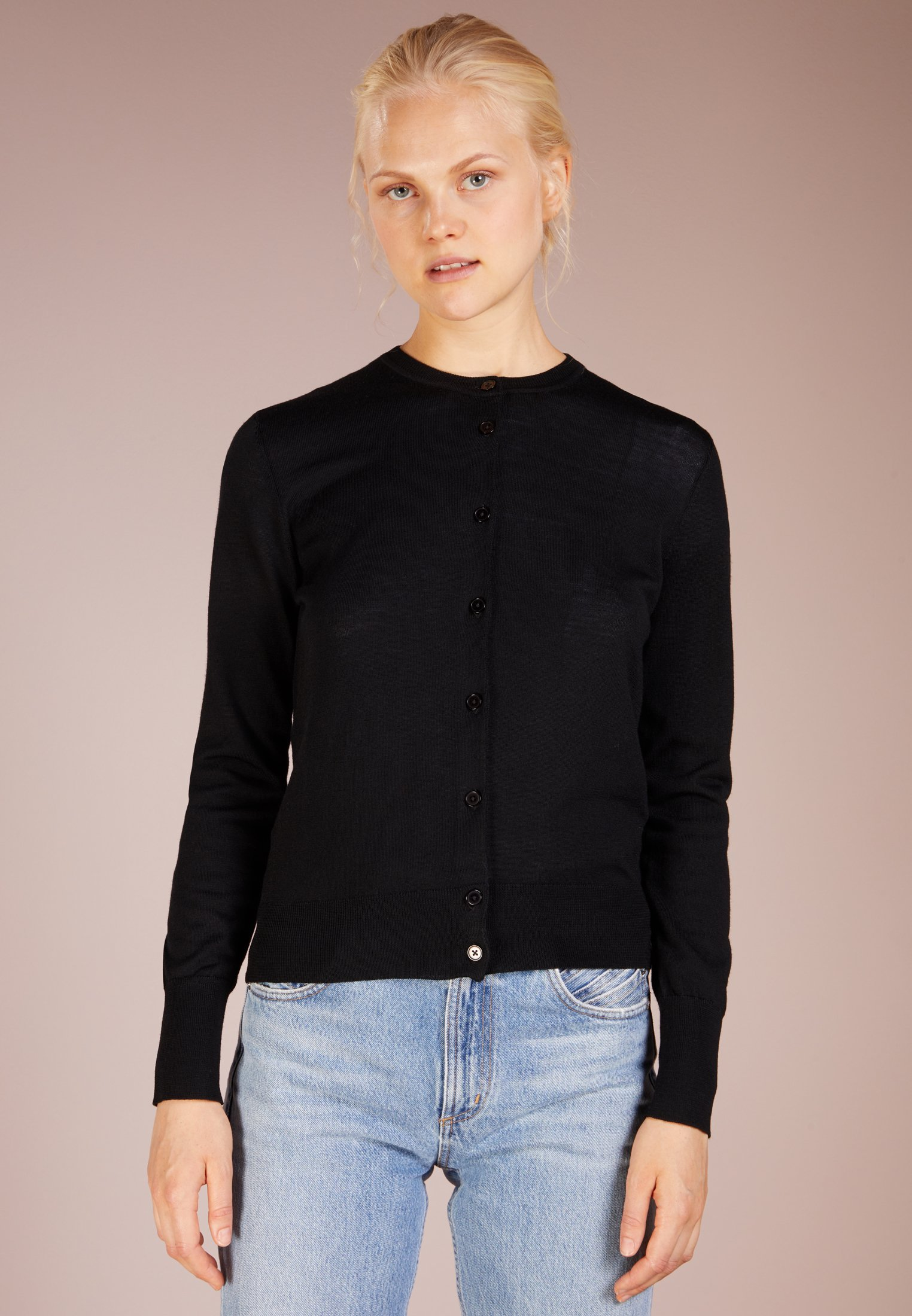 Filippa K Gilet - black - Pulls & Gilets Femme L68cM