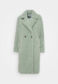 FASHION BORG LONGLINE COAT - Winter coat - light green