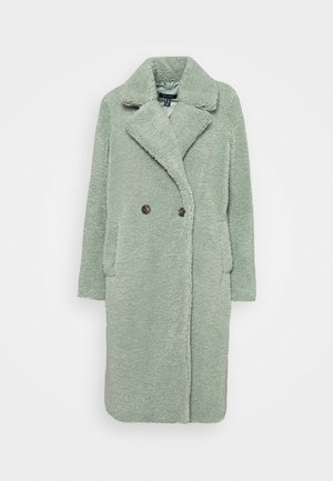 FASHION BORG LONGLINE COAT - Cappotto invernale - light green