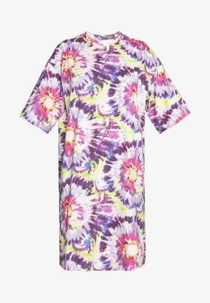 SANDRA DRESS - Jerseykjoler - white tie dye