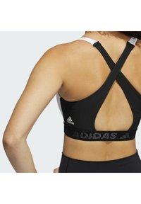 adidas Performance - Medium support sports bra - white/black - 6