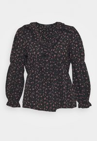 CAPSULE by Simply Be - V NECK BALLOON SLEEVE BLOUSE - Blouse - black - 3