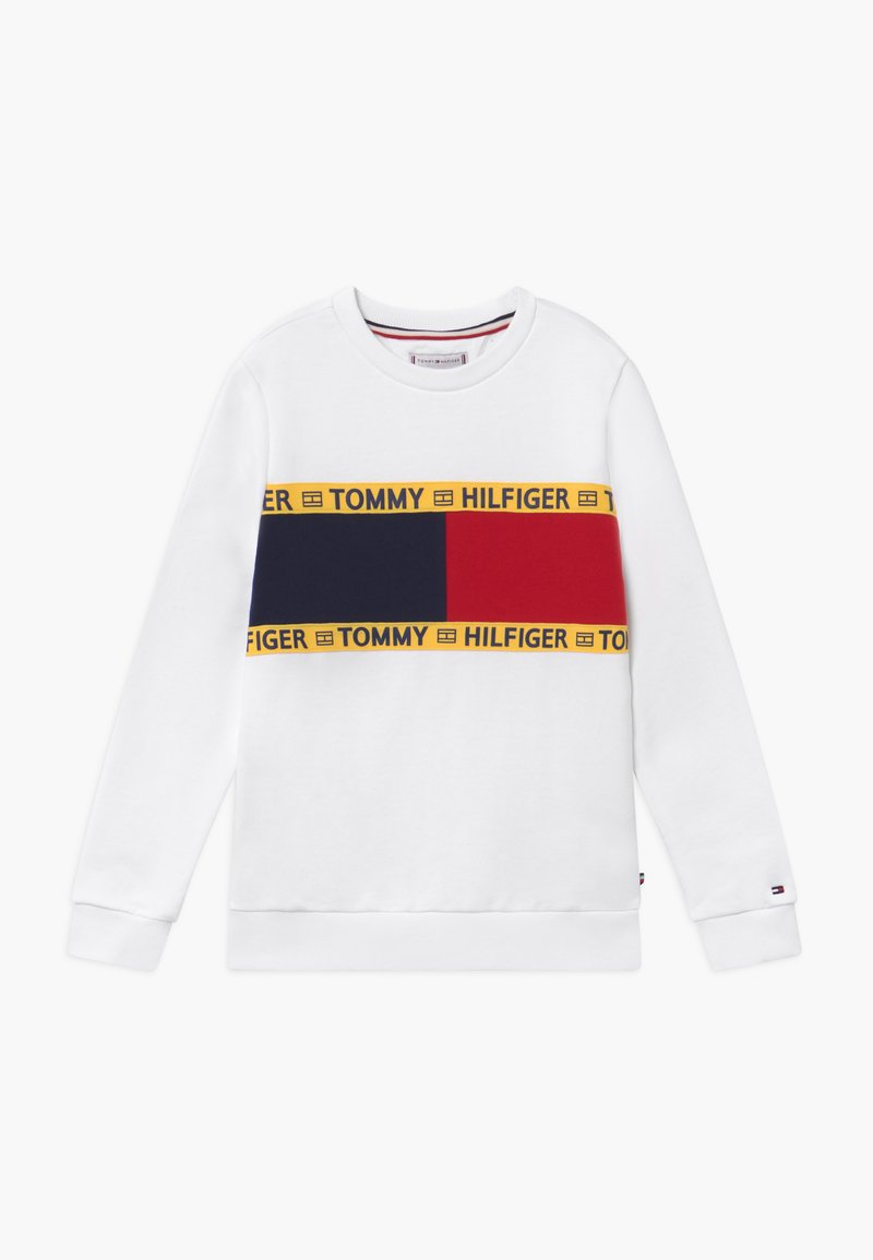 Tommy Hilfiger - FLAG CREW  - Sweater - white