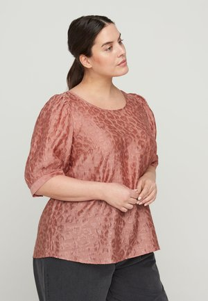 TONE-IN-TONE MUSTER - Blouse - pink
