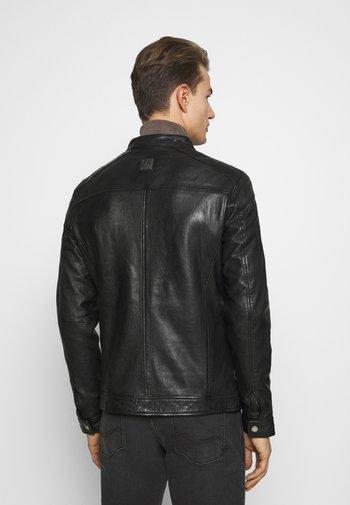 GOOD MOVE - Kožená bunda - black