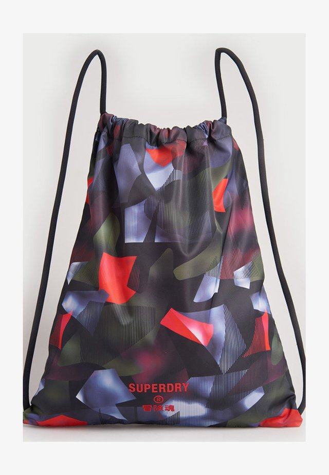 Drawstring sports bag - cubism print