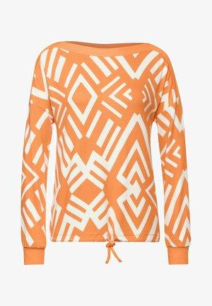 MIT GRAFISCHEM MUSTER - Trui - orange