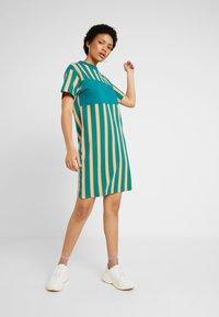 Puma - DOWNTOWN STRIPE DRESS - Sukienka letnia - teal green - 1