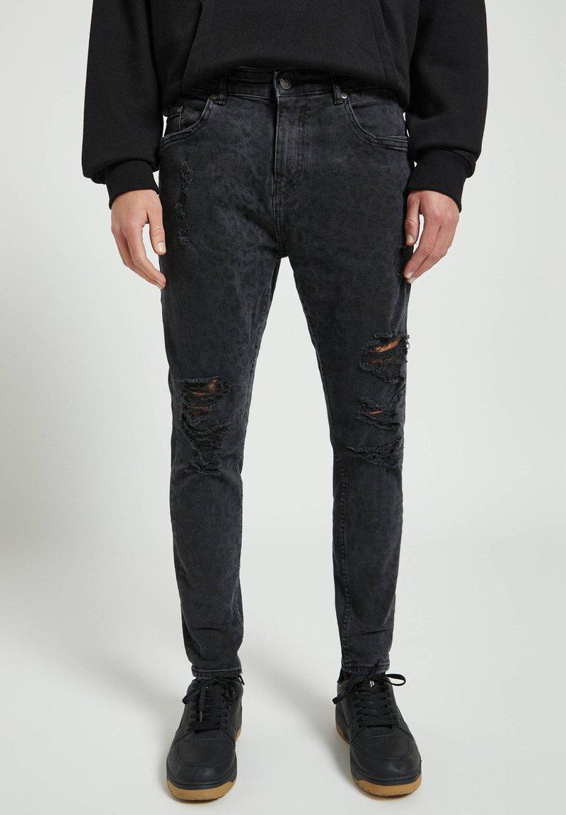 PULL&BEAR - Skinny džíny - dark grey