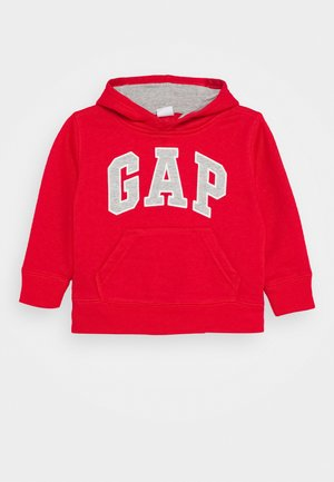 TODDLER BOY LOGO - Bluza z kapturem - red wagon