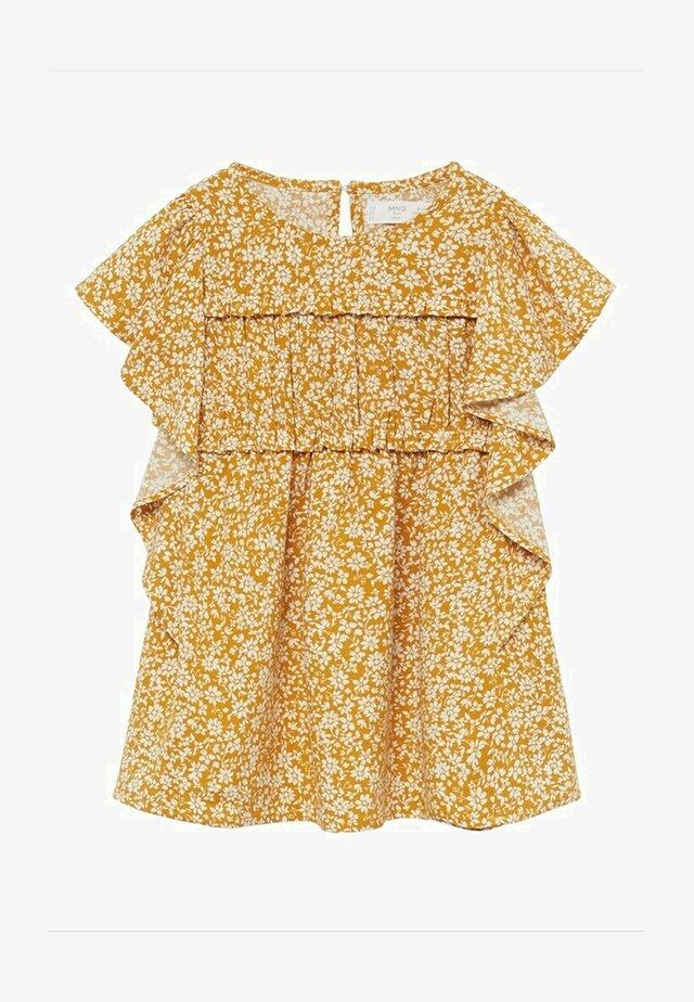 MOSS - Korte jurk - moutarde