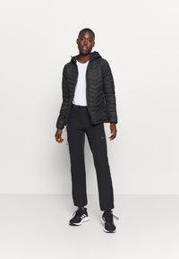Columbia - POWDER LITE HOODED JACKET - Winter jacket - black - 1