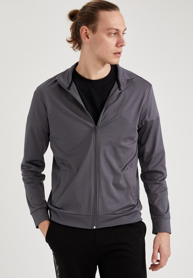 veste en sweat zippée - anthracite