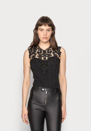 FLOWER BODYSUIT - Print T-shirt - black