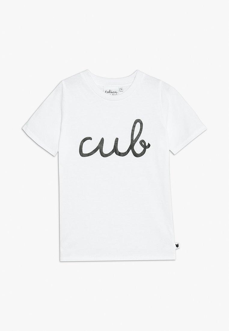 Tobias & The Bear - BABY CUB TEE - Print T-shirt - white