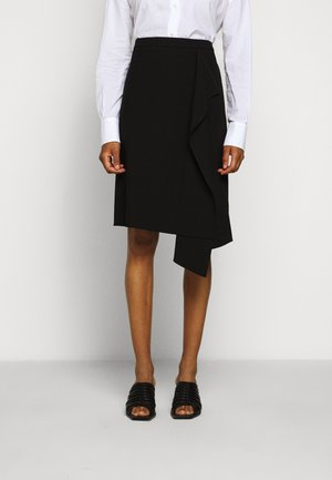 RIBINA - A-line skirt - black