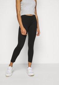 Even&Odd Petite - 2er pack 7/8 legging - Leggings - Trousers - black - 2
